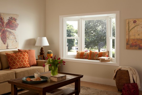 Bay Window With Seating Simonton Windows Doors inside 21+ Fancy Living Room Window