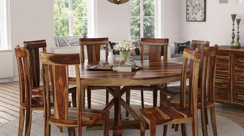 Bedford X Pedestal Rustic 72 Round Dining Table With 8 Chairs Set for [keyword