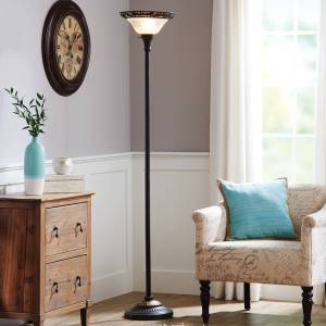 Better Homes Gardens Victorian Floor Lamp With Etched Glass Shade Walmart inside ucwords]