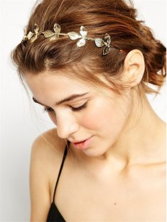 Buy Womens Stylish Hairbands Retro Style Gold Color Leaves Shaped with ucwords]