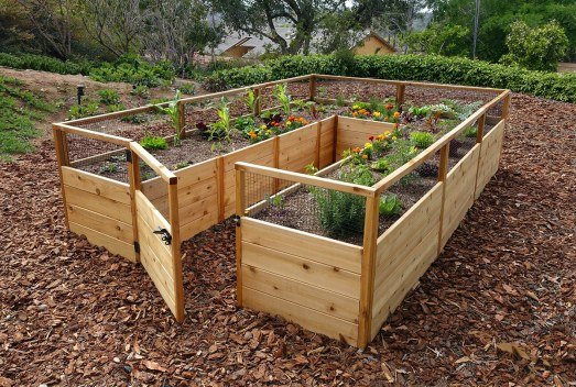 Cedar Raised Garden Bed 8x12 Outdoor Living Today throughout 19+ How to Build Raised Garden Beds