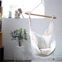 Chair Polyester Hammock Swing For Bedroom Indoor Hanging From with 14+ Awesome Indoor Hammock Ideas For A Lazy Sunday Morning