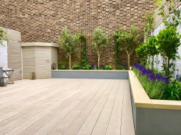 Contemporary Modern Garden Design London Decking Screen Raised Bed with 23+ Gorgeous Small Wooden Deck Ideas for Small Backyards