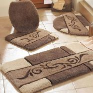 Cream Exterior Decor Ideas For Luxury Bathroom Rug Sets pertaining to ucwords]