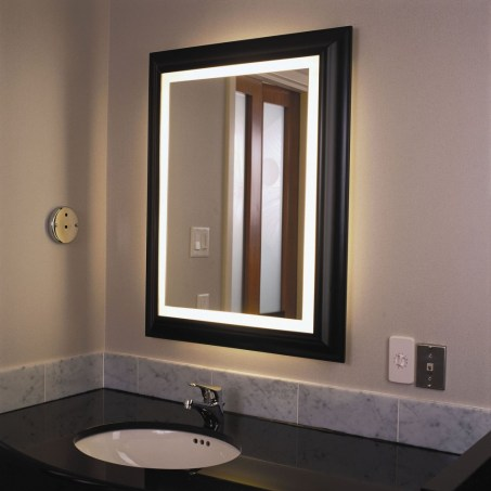Decorate For Bathroom Mirrors With Lights pertaining to 27+ Luxury Rectangular Bathroom Mirrors