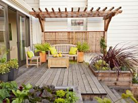 Design Ideas For Deck Planter Boxes Diy pertaining to 23+ Gorgeous Small Wooden Deck Ideas for Small Backyards