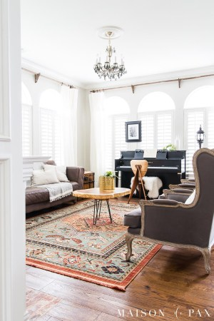 Eclectic Living Room With Colorful Neutral And Vintage with [keyword