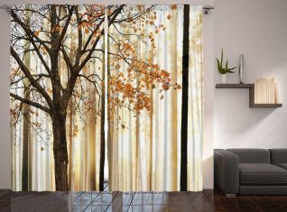 Fall Trees Abstract Art Bedroom Living Room Curtains 2 Panels Set 108x90 Inches with [keyword
