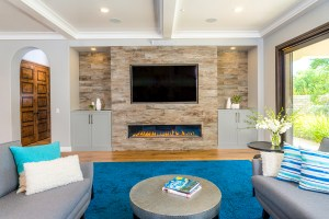 Fashion Grey Living Room Cabinets Surround Fireplace Dewils with regard to ucwords]