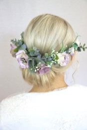 Fashion Purple Wedding Hairstyles Astonishing Flower Crown Large with 23+ Outstanding Flower Hairstyles