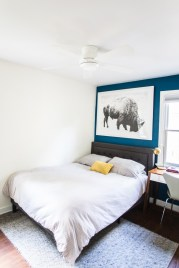 Grown Up Kids Bedroom With A Blue Accent Wall Live Free Creative Co in ucwords]