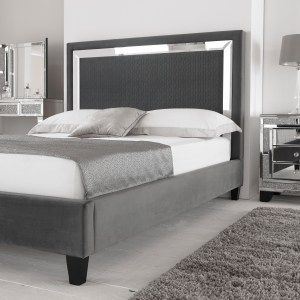Harmony Mirrored Bed Frame Hyder Living with ucwords]