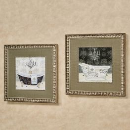 His And Hers Tub Framed Bathroom Wall Art pertaining to [keyword