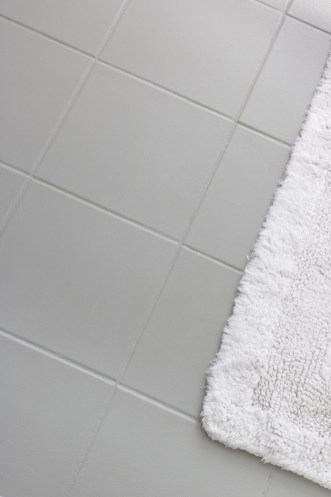 How I Painted Our Bathrooms Ceramic Tile Floors A Simple And inside 14+ How To Tile A Bathroom Floor With Plank Tiles