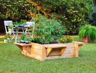 How To Build A Raised Bed With Benches Bonnie Plants intended for ucwords]