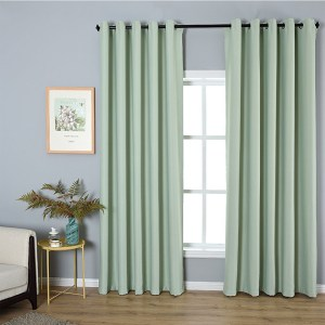 Mint Green Simple Minimalist Scandinavian Style Window Curtains For Living Room in ucwords]