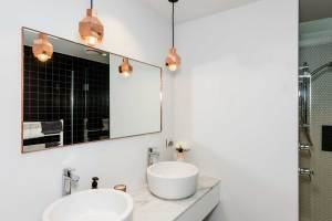 Mirrors Metro Performance Glass for 24+ Big Bathroom Mirror Trend In Real Interiors