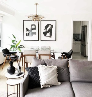 Modern Eclectic Livingdining Room The Karma Corner throughout [keyword