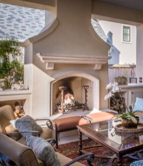 Outdoor Fireplace The Key To Indoor Outdoor Living within [keyword