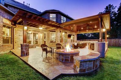 Outdoor Living Space In The Woodlands inside [keyword