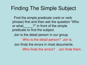 Ppt Simple Subjects And Predicates Powerpoint Presentation with 13+ Unique Simple Subject