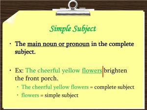 Ppt Subject And Predicate Powerpoint Presentation Id2280430 throughout ucwords]