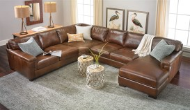 Room Size Top Grain Italian Leather Sectional With Right Side Chaise intended for ucwords]