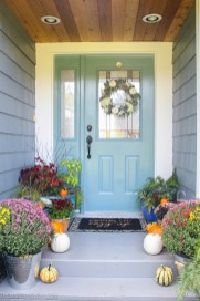 Simple Fall Front Porch Decor The Happy Housie within [keyword