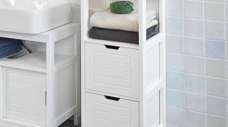 Sobuy Frg127 W White Floor Standing Bathroom Storage within [keyword
