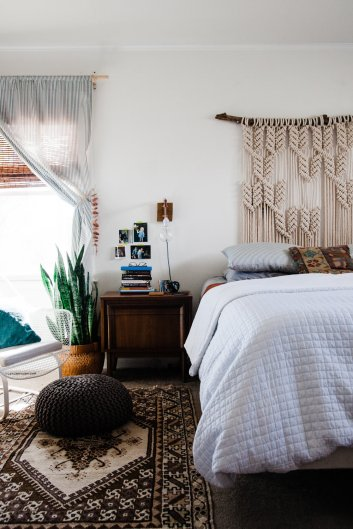 The Perks Of Decorating Slowly Palmers Neutral Boho Bedroom with regard to ucwords]