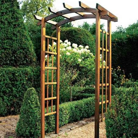 Thornton Rustic Garden Arch Harrod Horticultural with 26+ Best Wonderful Rustic Garden Decorations And Ideas