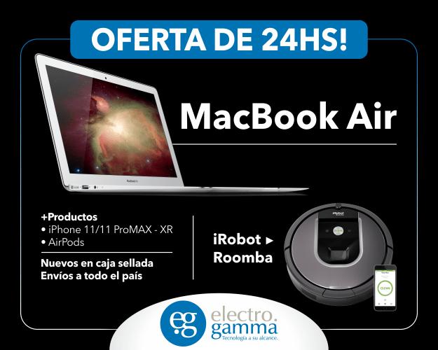 Electrogamma en donde compras tu Macbook y Aspiradora Robot en oferta en Argentina