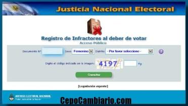 En caso de que figures como infractor, te corresponde pagar una multa de $ 50 si no votaste en las PASO y de $ 100 si no votaste en las elecciones Generales.