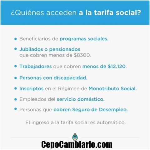 Cómo acceder a la Tarifa Social