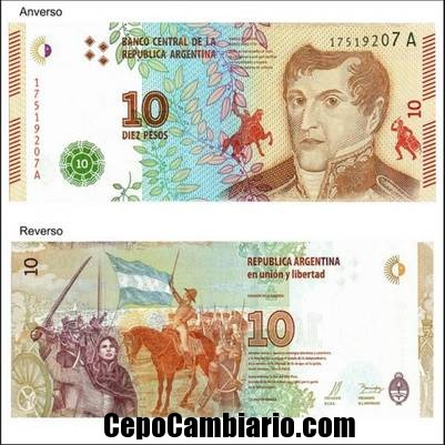 Nuevo billete de $10 pesos