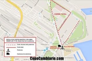 Qué calles se cerrarán mañana 13A por la declaración de CFK?
