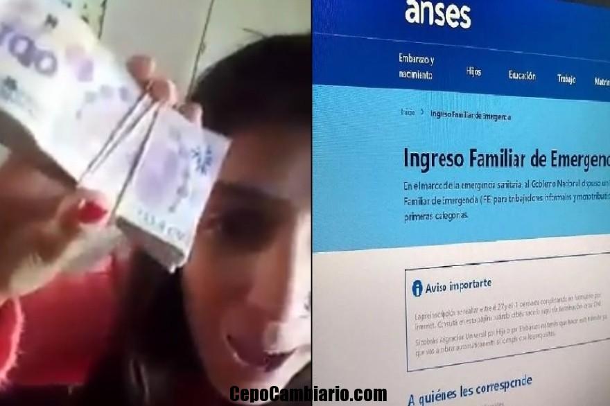 Video polémico una joven dice que comprará droga con los $10 mil de paga Anses