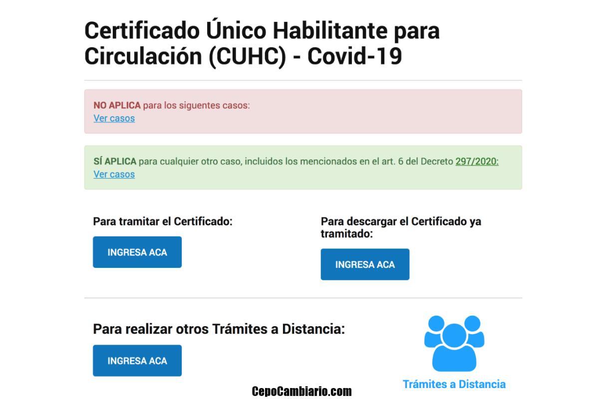 Permiso de circulación hoy cómo sacar online el certificado para transitar en la cuarentena por coronavirus