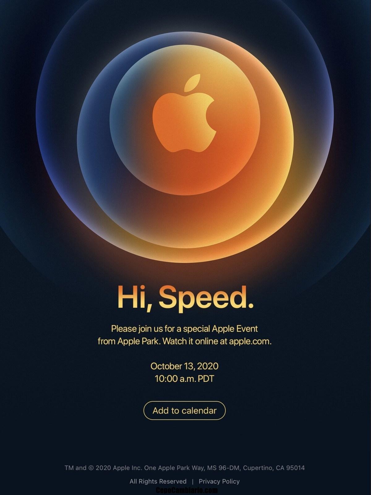 Iphone 12 se anuncia para el 13 de Octubre su anuncio y venta el 23 de Octubre