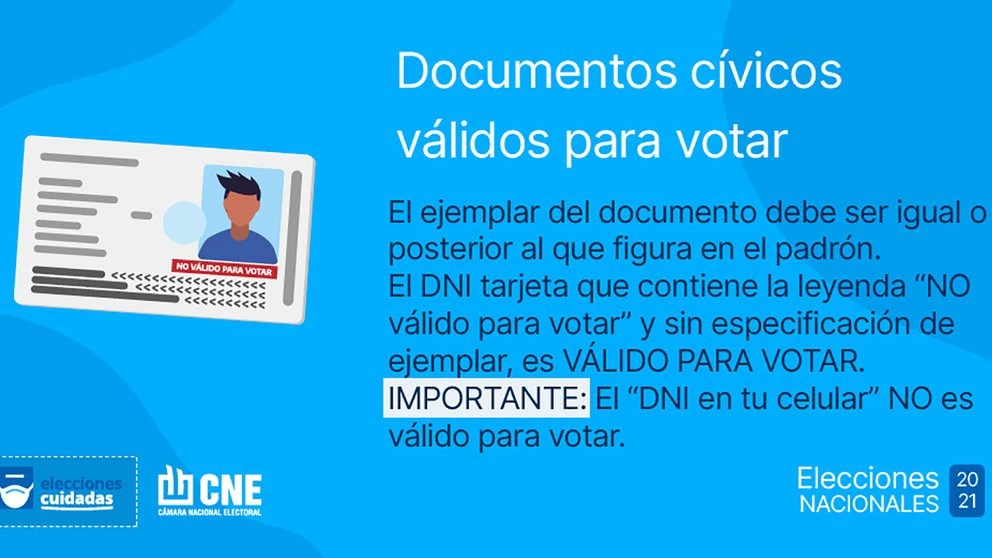 Con qué documento es válido votar