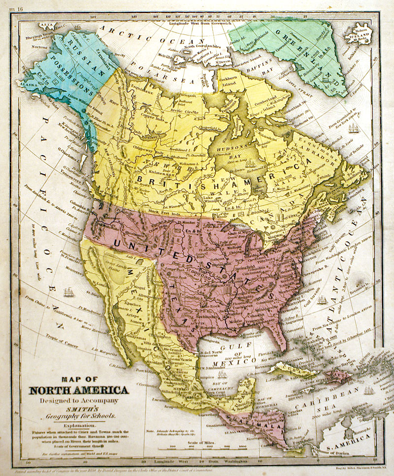 Map Of North America C 1846 Burgess M 13086 175