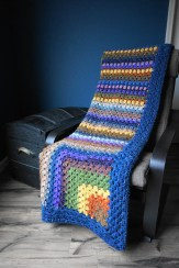Mitered Granny Square Blanket - Cera Boutique