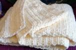 Cream Bernat Blanket Yarn Blanket - Crea Boutique