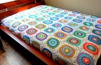 Large Circle in Square Blanket - Cera Boutique 2016