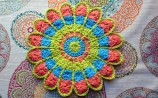 Lily Sugar n' Cream - Mandala Pot Holder Pattern by Willow Yarns Design Team - Cera Boutique 2016