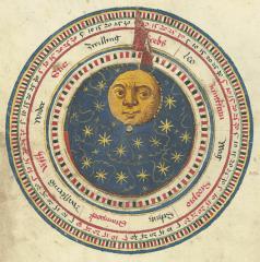 A 1496 copy of the German calendar created by Johannes Von Gmunden (c.1380-1443).  - Copy
