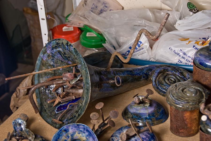 reciclaje oxidos obra cerámica fango