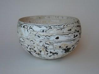 large white yellow & grey bowl 16 x 27cm £380