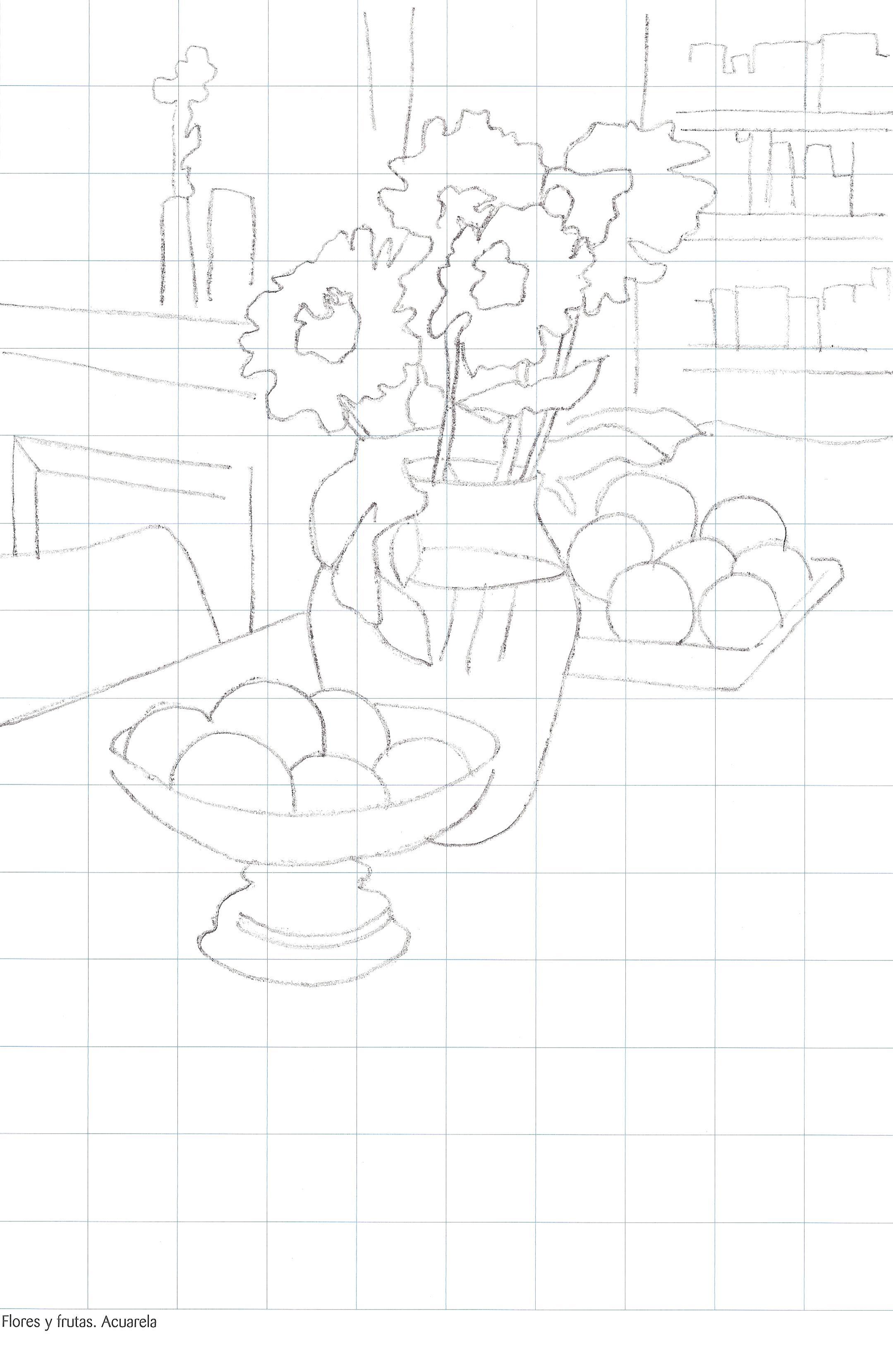 Laminas modelo para pintar bodegones Plantillas para