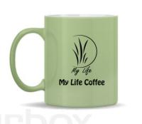 แก้วมัคเขียว 10oz. My Life Coffee